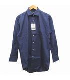 チャップス CHAPS RALPH LAUREN ラルフローレン ワイシャツ グラフチェック 長袖 コットン M 青 ブルー