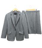アンタイトル UNTITLED セットアップ フォーマル スーツ ジャケット テーラード スカート 1B ウール混 44 グレー