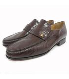 モレスキー MORESCHI ローファー シューズ 革靴 イタリア製 ロゴ 5 茶 ブラウン