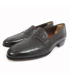 リドフォルト LIDFORT ローファー シューズ 革靴 イタリア製 6 黒 ブラック