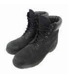 ティンバーランド Timberland 6INCH BASIC BOOT ブーツ レースアップ レザー ロゴ 9W 黒 ブラック
