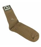 エヴィス EVISU 靴下 ソックス アーガイル ハイソックス ワンポイント ロゴ 無地 ブラウン 茶