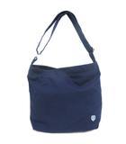 オーチバル ORCIVAL オーシバル ショルダーバッグ ロゴ ジップ コットン キャンバス 青 ブルー