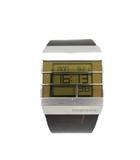 ディーゼル DIESEL DZ-7071 腕時計 デジタル レザー クオーツ ブラウン シルバー ゴールド