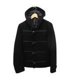 ブラックバレット バイ ニールバレット BLACKBARRETT by neil barrett ダッフルコート ジャケット 羊毛混 フード 2 ブラック 黒