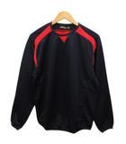 ミズノ MIZUNO 52LA-107 プレイングジャケット プルオーバー メッシュ 裏起毛 クルーネック 長袖 M 紺 ネイビー 赤 レッド