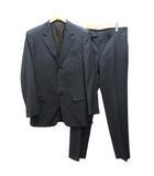 ルイヴィトン LOUIS VUITTON スーツ フォーマル セットアップ テーラードジャケット ストライプ センターベント スラックス 50 紺 チャコールグレー 紺 ネイビー