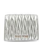 ミュウミュウ miumiu 5MV204_N88_F0135 マテラッセレザー 財布 ウォレット 二つ折り メタル ロゴ 羊革 銀 シルバー