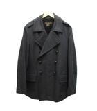 ルイヴィトン LOUIS VUITTON ハーフコート Pコート ジャケット コットン ライナー 羊革 50 黒 ブラック RW052M MHPK10CJZ