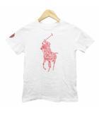 ラルフローレン RALPH LAUREN Tシャツ 半袖 クルーネック ロゴ プリント コットン 7 白 ホワイト 赤 レッド