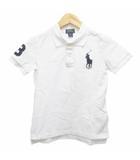 ラルフローレン RALPH LAUREN ポロシャツ 半袖 ロゴ刺繍 ワッペン コットン 7 白 ホワイト 紺 ネイビー