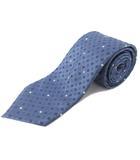 ルイヴィトン LOUIS VUITTON ネクタイ レギュラータイ シルク ドット マルチカラー 青 ブルー