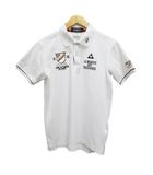 ルコックスポルティフ le coq sportif GOLF COLLECTION ポロシャツ 半袖 刺繍 M 白 ホワイト
