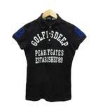 パーリーゲイツ PEARLY GATES ポロシャツ 半袖 ワッペン ロゴプリント コットン 1 黒 ブラック 白 ホワイト 青 ブルー