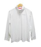 マリクレール MARIE CLAIRE SPORT ポロシャツ 長袖 ジップアップ レース 切替 LL 白 ホワイト