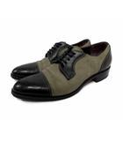 アルフレッドバニスター alfredoBANNISTER 革靴 ビジネスシューズ ストレートチップ 切替 スウェード 41 バイカラー 茶 ブラウン ベージュ