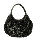 アンテプリマ ANTEPRIMA ハンドバック ワイヤーバッグ 花 ビジュー ラインストーン 装飾 黒 ブラック