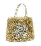 アンテプリマ ANTEPRIMA ハンドバッグ ワイヤーバッグ 花 ビジュー ラインストーン 装飾 ゴールド