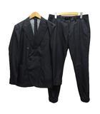 ジュンハシモト junhashimoto スーツ カジュアルスーツ セットアップ ダブル ピークドラペル 薄手 4 紺 ネイビー