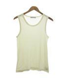 ロンハーマン Ron Herman カットソー Tシャツ タンクトップ ノースリーブ リブ シルク混 S 白 ホワイト
