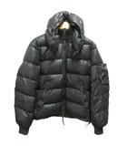 デュベティカ DUVETICA ダウンジャケット フード付 リブ袖 46 黒 ブラック