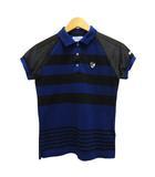 ポロシャツ カットソー 半袖 ボーダー メッシュ ロゴ 切替 0 紺 ネイビー 黒 ブラック