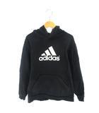 アディダス adidas キッズ パーカー プルオーバー スウェット ロゴ プリント ブラック 黒 160