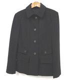 プラダ PRADA ジャケット ステンカラー ブラック 黒 38 ●025