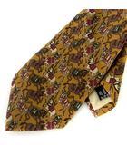 サルヴァトーレフェラガモ Salvatore Ferragamo ネクタイ シルク 絹100% ホース 馬 馬柄 総柄 ブラウン系 茶系 IBS39 575