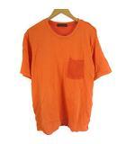 ロデオクラウンズ Rodeo Crowns メンズ ニット コンビ Tシャツ カットソー オレンジ M