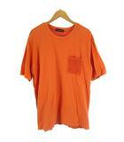 ロデオクラウンズ Rodeo Crowns メンズ ニット コンビ Tシャツ カットソー オレンジ XL