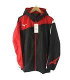 ミズノ MIZUNO 18SS ウィンドブレーカー シャツ ナイロン パーカー ジャケット ジップアップ ブラック 黒 L