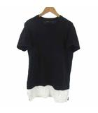 ナンバーナイン NUMBER (N)INE DENIM Tシャツ カットソー 切替 ブラック 黒 S