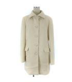 トラサルディ TRUSSARDI コート ステンカラー アンゴラ ウール ロゴボタン ホワイト 白 38