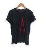 モンクレール MONCLER Tシャツ カットソー フロッキー ロゴ プリント ワッペン 半袖 ネイビー 紺 14 anni 164cm