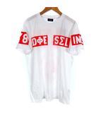 ディーゼル DIESEL 00SCQ0 0091B T-DIEGO-SO Tシャツ カットソー ロゴ プリント 半袖 ホワイト 白 S