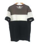 タケオキクチ TAKEO KIKUCHI Tシャツ カットソー 半袖 配色 ブラック 黒 2