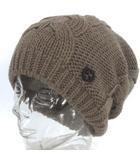 グッチ GUCCI ニット キャップ ニット帽  ケーブル編み ウール インターロッキングG ベージュ ●IBS77