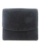 シャネル CHANEL ココマーク キャビアスキン コインケース 小銭入れ 財布 レザー ブラック 黒 1995年頃製