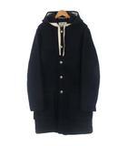 アクネ ストゥディオズ Acne Studios 18AW duffle coat ダッフル コート メルトン フード ルーズフィット ネイビー 紺 46 ECR3