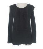 クロエ CHLOE カットソー プルオーバー Tシャツ シルク ピンタック フリル 長袖 ブラック 黒 XS トップス