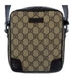 148473 486539 GGプラス シュリーライン ショルダー バッグ PVC レザー 斜め掛け ブラウン 茶 かばん カバン 鞄
