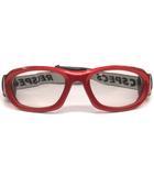 レックスペックス REC SPECS ゴーグルタイプ スポーツ メガネ 眼鏡 レッド ブラック 赤 黒 53口17