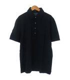ポロシャツ カットソー 鹿の子 ロゴ 刺繍 半袖 ネイビー 紺 M トップス