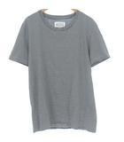 16SS Tシャツ カットソー ボーダー コットン 半袖 ブラック ホワイト 黒 白 L トップス S50GC0432