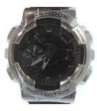 カシオジーショック CASIO G-SHOCK Gショック Metal Covered GM-110-1AJF メタルカバード 腕時計 アナデジ シルバー ブラック 黒