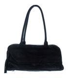 ワイズ Y's YX-102-713 レザー ミニ ボストン バッグ トート ハンド フリンジ ブラック 黒 かばん カバン 鞄