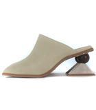 エヴリス EVRIS 新作 今季 2021S/S 21SS SHAPE ヒール ロー サンダル 変形ヒール スクエアトゥ アイボリー L 24.0 24.5 シューズ 靴