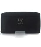 ルイヴィトン LOUIS VUITTON M62622 20年製 ジッピー ロックミー ラウンドファスナー 長財布 カーフレザー  LV ロゴノワール ブラック 黒