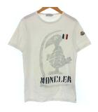 モンクレール MONCLER 82565 Tシャツ カットソー ペイント ロゴ バード トリコロール プリント 半袖 ホワイト 白 S ●IBS94